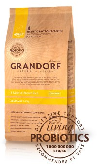 Grandorf 4 MEAT & BROWN RICE ADULT MINI
