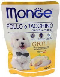 Monge POUCH DOG GRILL Chicken & Turkey