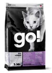 Go! FIT + FREE Grain Free Chicken, Turkey, Duck Recipe for Cat