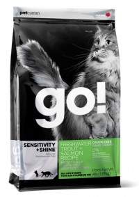 Go! SENSITIVITY + SHINE Grain Free Freshwater Trout, Salmon Recipe for Cat