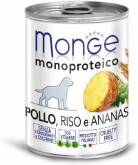 Monge WET DOG MONOPROTEICO FRUITS Chicken, Rise & Ananas