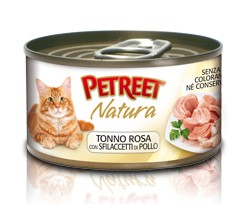 Petreet CHICKEN SHREDS with PINK TUNA