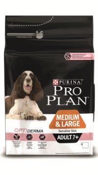 Pro Plan ADULT 7+ MEDIUM & LARGE SENSITIVE SKIN Salmon & Rice
