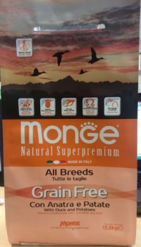 Monge GRAIN FREE for Dog with Duck and Potatoes