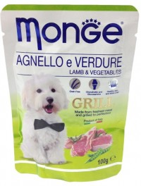 Monge POUCH DOG GRILL Lamb & Vegetables