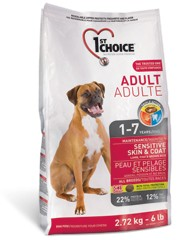 1st Choice ADULT DOG All Breeds SENSITIVE SKIN & COAT