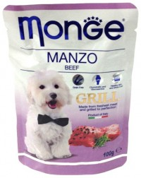 Monge POUCH  DOG GRILL Beef