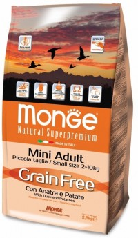 Monge GRAIN FREE MINI ADULT with Duck and Potatoes